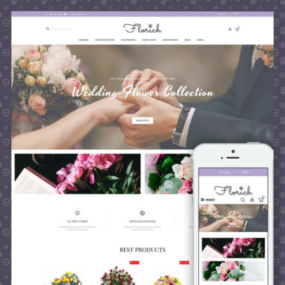 Florich - Wedding Flowers Store Prestashop Theme