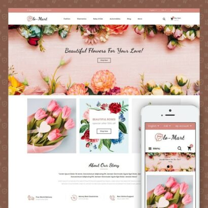 Flowmart - Flowers Store Prestashop Theme