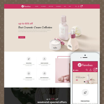 Frivolous - Cosmetic Store Prestashop Theme