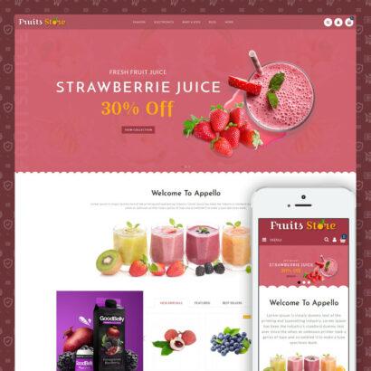 Fruits Store Prestashop Theme