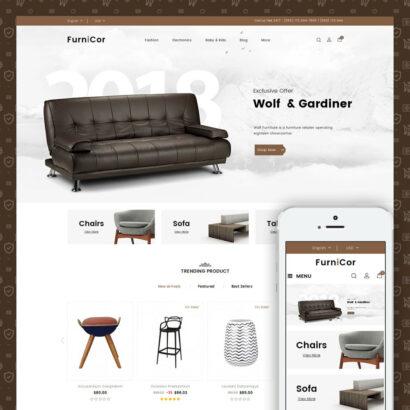 Furnicor - Furniture Store Prestashop Theme