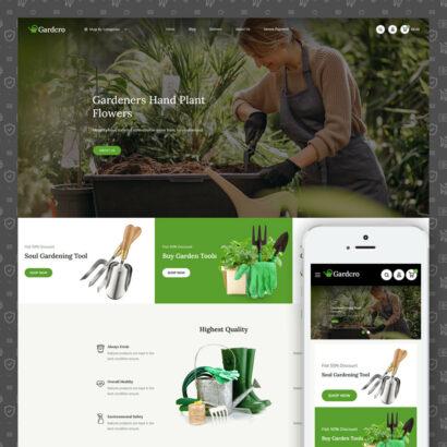 Gardcro - Garden Tools Store Prestashop Theme
