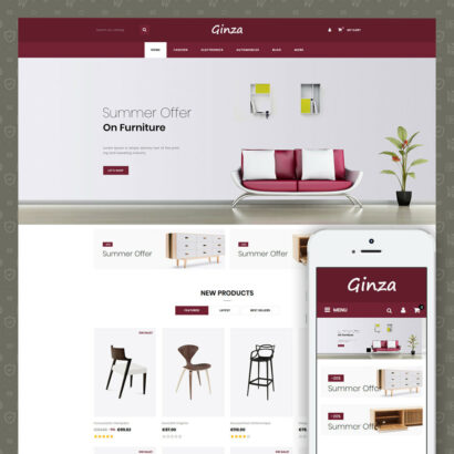 Ginza Furniture Store Prestashop Theme