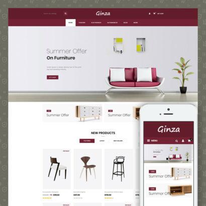 Ginza Furniture Store Prestashop Theme