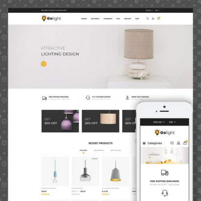 GoLight - Fancy Light Store Prestashop Theme