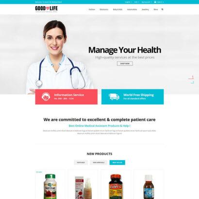 Good Life - Medical Store Prestashop Theme