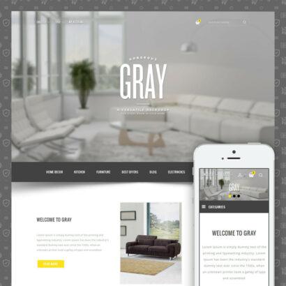 Gray Furniture Store Prestashop Theme