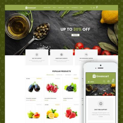 Green Cart - Organic Store Prestashop Theme