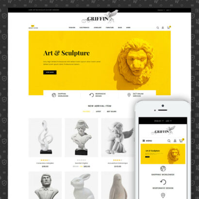 Griffin - Art Gallery Store Prestashop Theme