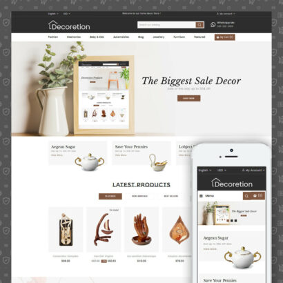 Home Decor Store Prestashop Theme
