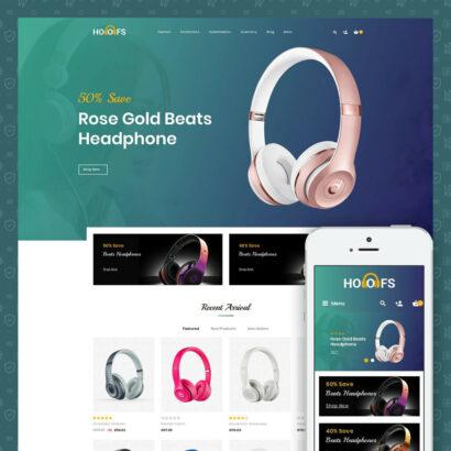 Hoofs - Headphone Store Prestashop Theme