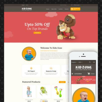 Kid Zone Online Store Prestashop Theme
