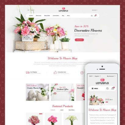 Lotusflow - Flowers Shop Prestashop Theme