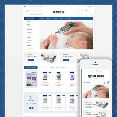 Medics - Medical Store Prestashop Theme