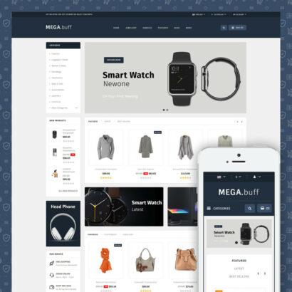 Mega Buff - Multipurpose store Prestashop Theme