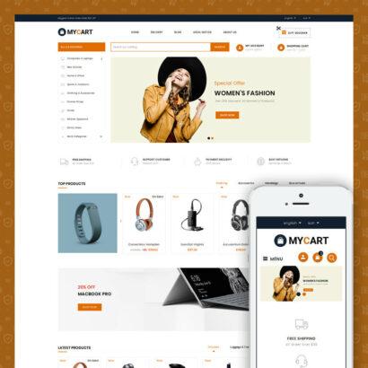 MyCart - Online Mega Store Prestashop Theme