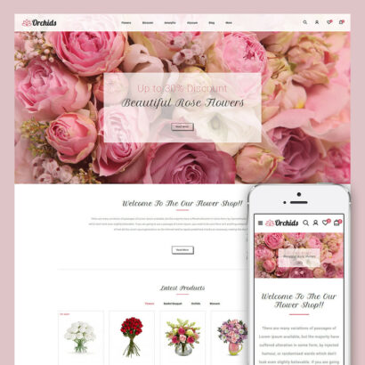 Orchid - Flower Market Prestashop Theme