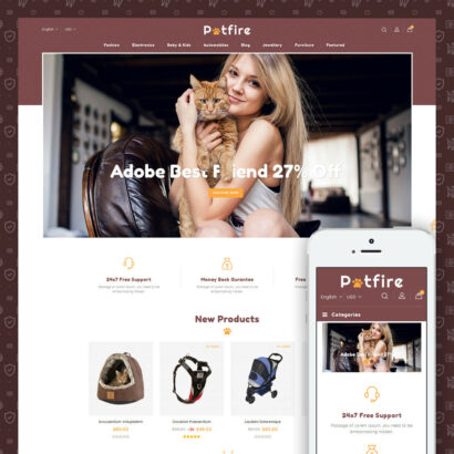 Petfire - Animals Store Prestashop Theme