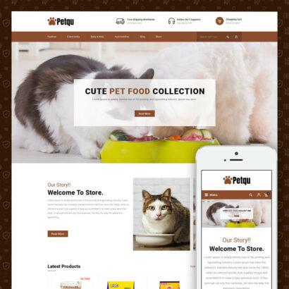 Petqu - Pets Store Prestashop Theme