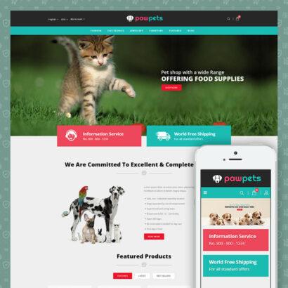 Pets & Animals Store Prestashop Theme