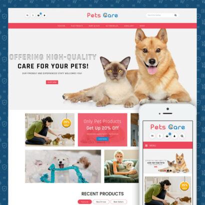 Pets Care - Animals Store Prestashop Theme
