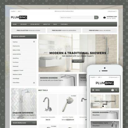 Plumbing - Hardware Store Prestashop Theme