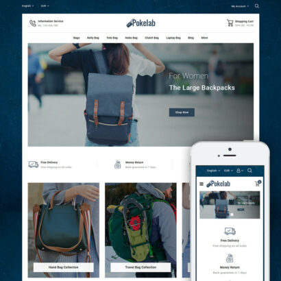 Pokelab - Bag Store Prestashop Theme