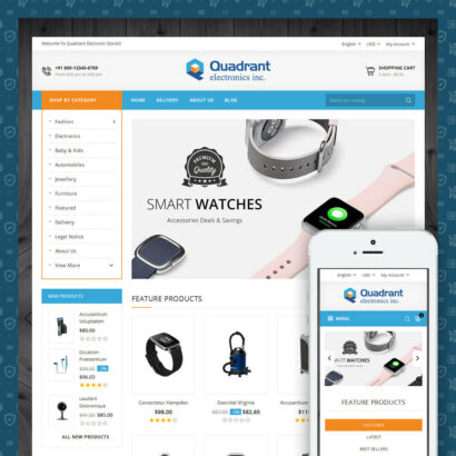 Quadrant - Electronic Store Prestashop Theme