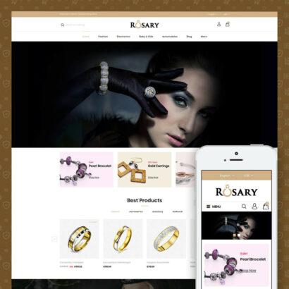 Rosary Diamond Store Prestashop Theme