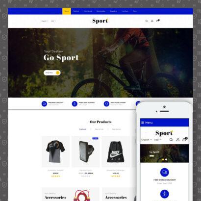 Sport Star Accessories Store Prestashop Theme