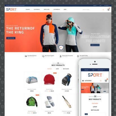 Sports Kit Store Prestashop Theme