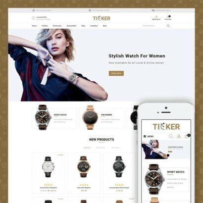 Ticker - Watch Store Prestashop Theme