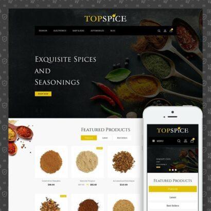 Top Spice Store Prestashop Theme