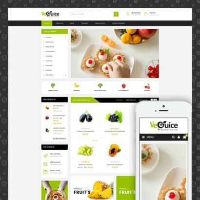 VeGuice - Organic Store Prestashop Theme