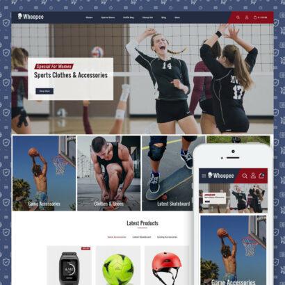 Whoopee - Sport Store Prestashop Theme