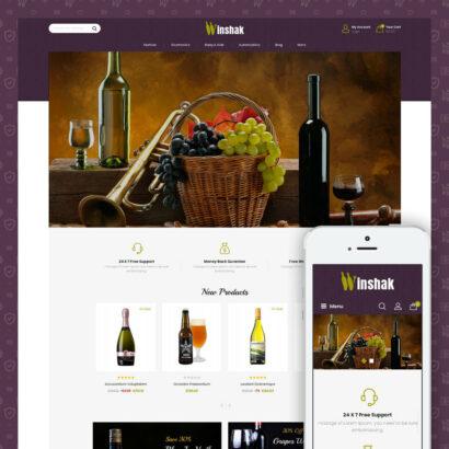 Winshak - Wine Store Prestashop Theme
