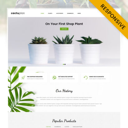 Cactuplan Plant Store OpenCart Theme