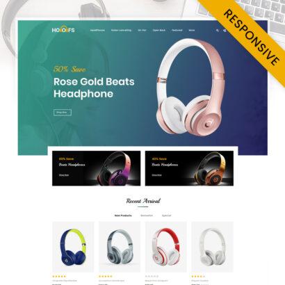 Hoofs - Headphone Store OpenCart Theme