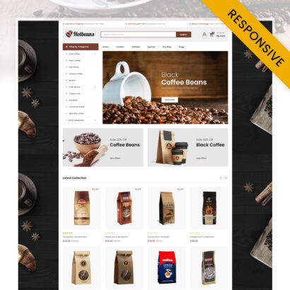Hotbeans - Coffee Store OpenCart Theme