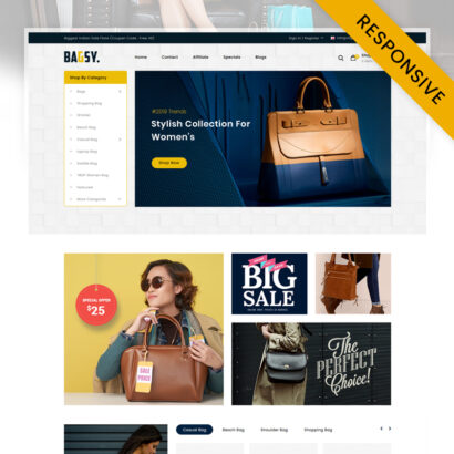 Bagsy - Bag Store OpenCart Theme