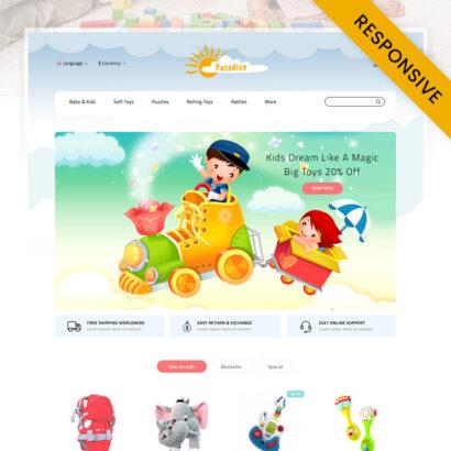 Paradise Toys Store OpenCart Theme