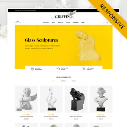 Griffin - Arts Store OpenCart Theme