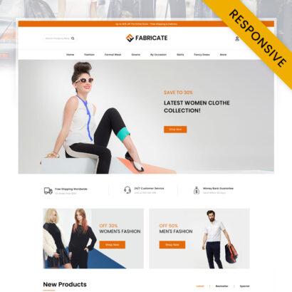 Fabricate - Unique Fashion Store OpenCart Theme