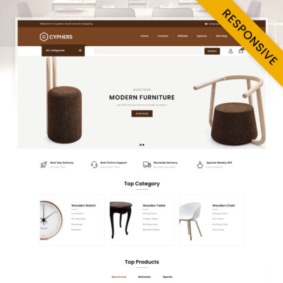 Cyphers - Furniture Store OpenCart Theme