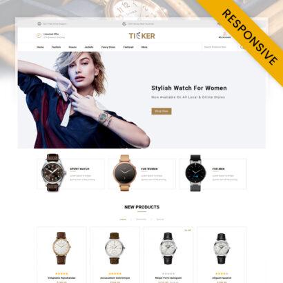 Ticker - Watch Store OpenCart Theme