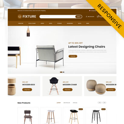 Fixture - Online Furniture Store OpenCart Theme
