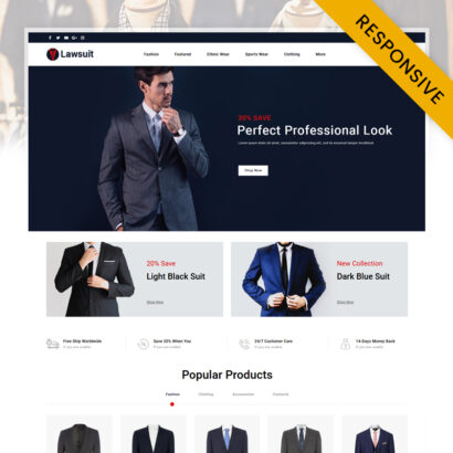 Lawsuit - Suits Store OpenCart Theme