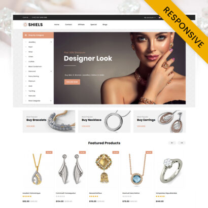Shiels - Jewelry Store OpenCart Theme