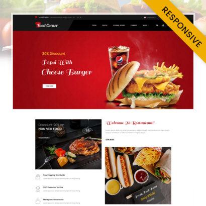 FoodCorner - Restaurant Store OpenCart Theme