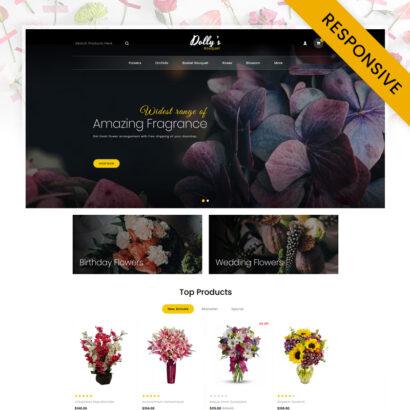Flowers Bouquet OpenCart Theme